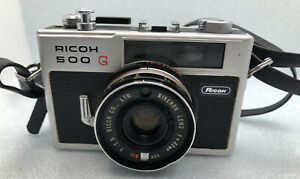 Vintage Ricoh 500G Film Camera 1:2.8 With Film In It