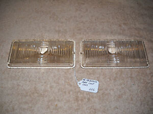 NOS Mopar 1946-1948 DeSoto Park Lamp Lenses Mint Pair