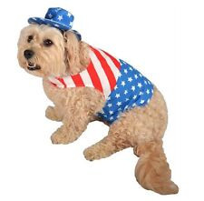 *NEW*  PATRIOT DOG PET COSTUME Size S Halloween Super Bowl July 4th Memorial Day