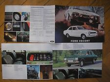 FORD ESCORT GT XL ESTATE SALES BROCHURE ORIGINALE ITALIA SALES PROSPEKT