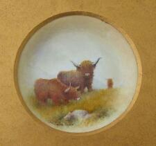 Christopher Hughes Cattle Painted Porcelain Picture (Royal Worcester Artist)