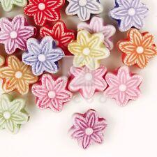 140X Wholesale DIY Flower Beads Assorted Cheaper New Acrylic Free Ship AR0018
