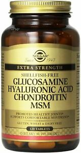 Glucosamine Hyaluronic Acid Chondroitin MSM (Shellfish-Free), 120 tablet