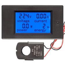80260v Digital Voltmeter Ammeter Power Watt Meter Detector Voltage Tester Guage
