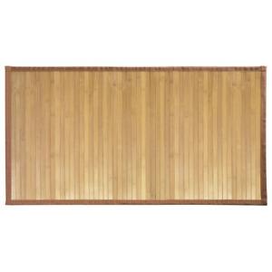iDesign Formbu Bamboo Floor Mat Non-Skid, Water-Repellent Runner Rug for Office,