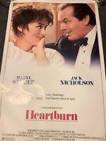 Vintage ORIGINAL Movie Poster 1 sheet HEARTBURN STREEP NICHOLSON