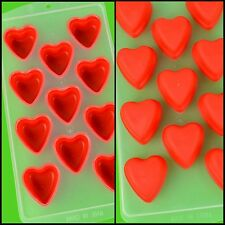 Kitchen DIY Love Heart Shape Ice Cube Tray Pudding Popsicle Silicone Mold