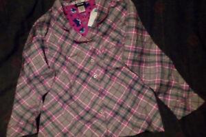 NWT Joe Boxer Purple, Pink, White, Green Plaid Pajama Shirt (Ships Same Day!)