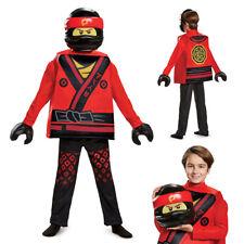 Boys LEGO Ninjago Kai Movie Deluxe Costume size Large 10-12