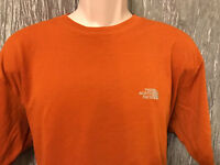 The North Face Orange Crew Neck T Shirt Size XL Vapor Wick Short Sleeve Casual