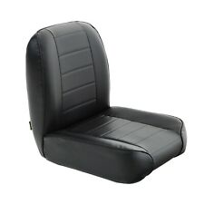 Smittybilt 44801 (PRE-ORDER) Black Vinyl Low-Back Bucket Front Seat 55-75 Jeep