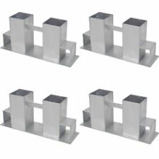 4 pcs Firewood Stacking Aids Brackets Wooden Logs Holder Set Firewood Stove UK
