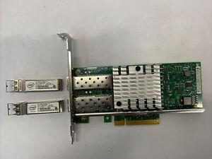 Intel X520-DA2 Dual Port 10GbE Network Adapter Full Height Dell 0XYT17 w/2 SFP