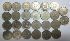 26 Singapore 20 / twenty cents nickel coins, fish series, 1967 to 1984 wholesale