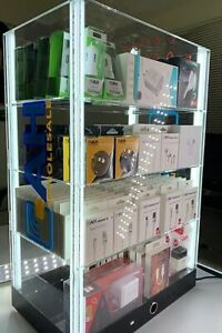 Cell Phone Acceesory LED Light Counter Display With Tester