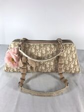 CHRISTIAN DIOR Diorissimo Beige Canvas Leather and Velour Trim Made in Italy 7cd7ca692ba7c