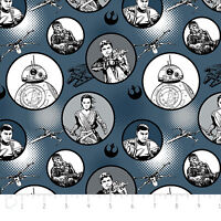 Star Wars The Force Awakens Badges Grey Camelot 100% cotton Fabric by the yard