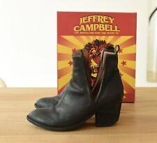JEFFREY CAMPBELL Orwell Boots Spitz Cowboy Festival Ibiza cut-out Leder Booties