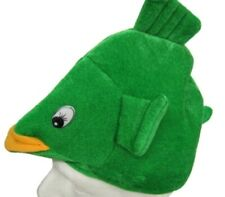 Green Fish Hat - Plush Animal Headpiece - Fun for Party, Halloween