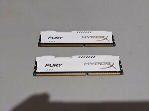 Kingston HyperX RAM (2x4GB) - White