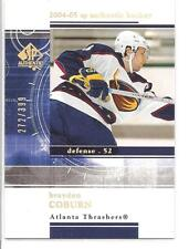 BRAYDON COBURN 2004-05 SP Authentic Rookie Redemption x/399 #RR2