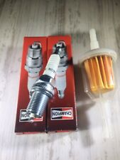 Replaces Kohler Briggs Stratton OHV Inline Fuel Filter 2 Spark Plugs RC12YC New
