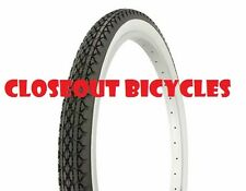 """Tire Duro 24"""" x 2.125"""" Black/White Side Wall HF-133. Fixie Road Cruiser BMX Bike"""