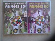 16780 //LOT 2 DVD NOS PLUS BELLE ANNEES 80 VOLUME 1  + 2 - 48 TITRES NEUF