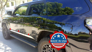 """fit:2010-2021 Toyota 4Runner Flat Stainless Body Side Molding Trim 6Pc 2 1/2"""""""