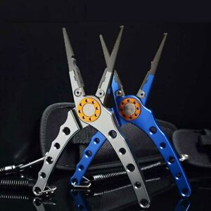Fishing Plier Scissor Hook Remover Line Cutter Multi-Tool Knot Fishing Equipment