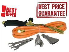 BEST Propane Butane Gas Heating Torch Burner Hose Regulator Roofers Plumbers Kit