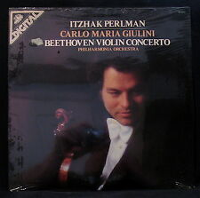 BEETHOVEN: VIOLIN CONCERTO-Itzhak Perlman-Sealed Album-ANGEL #DS 37471 Digital