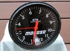 Vintage Moroso 12,000 RPM Tachometer Tattle Tale Needle Jones Motorola REAL DEAL