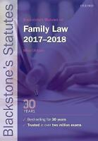 Blackstone's Statutes on Family Law 2017-2018 (Blackstone's Statute-ExLibrary