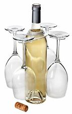 Mighty Clear Acrylic Four Wine Glass Holder