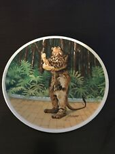 """Wizard of Oz plate """"If I Were King"""" Cowardly Lion Plate 8.5"""" Knowles Auckland"""
