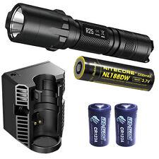 Nitecore R25 XP-L HI V3 Flashlight w/Charging Dock,18650, & 2x CR123A Batteries