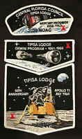 TIPISA OA LODGE 326 BSA CENTRAL FLORIDA COUNCIL FL 2020 NOAC APOLLO 3-PATCH NASA