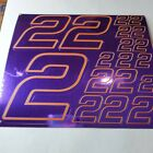PURPLE CHROME /Gold #2's Decal Sticker Sheet DEFECTS  1/8-1/10-1/12 RC Mo BoxD