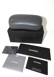 Chanel Sunglasses Eyeglasses Large Set Rhinestone Logo Case Cloth Box booklet