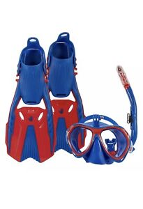 Adult and Youth Sizes Body Glove Snorkel Scuba Set Jean-Michel Cousteau Blue