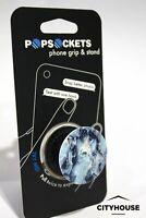 PopSockets Single Phone Grip PopSocket Universal Phone Holder Blue Marble