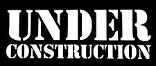 UNDER CONSTRUCTION DECAL STICKER CAR TRUCK SUV CHEVY FORD HONDA VW DODGE JDM