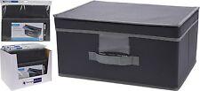 Cajón Almacenamiento Caja de Tela Gris Medio Tapa Flip Caja De Juguete Plegable Sala ordenado
