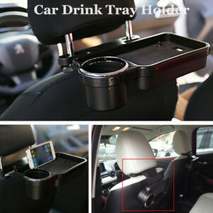 Car Rear Back Seat Table Drink Food Cup Tray Holder Desk Stand Mount BigCapacity