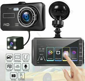 4'' Car DVR Dual Lens HD 1080P Dash Cam Video Recorder Camera Touch Screen New