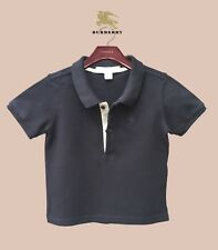 Authentic Burberry Boy's 12 months 1Y Polo Shirt T-shirt Baby Children Check Top