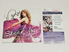 Taylor Swift Authentic Autographed SPEAK NOW Hand Signed CD JSA COA
