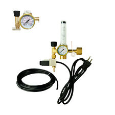 CO2 Hydroponics Regulator Emitter System with Solenoid Valve and Flow Meter