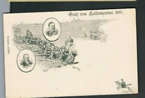 1897 Kaisermanöver , Wilhelm II. U Prinzregent Luitpold v Bayern